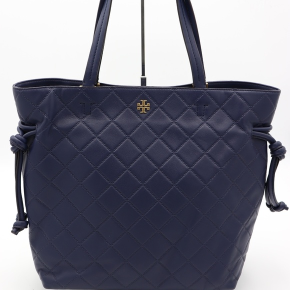 dfbc9929389 Tory Burch Navy Blue Georgia Slouchy Leather Tote